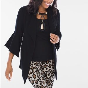 Chico's Bell-Sleeve Open Front Jacket